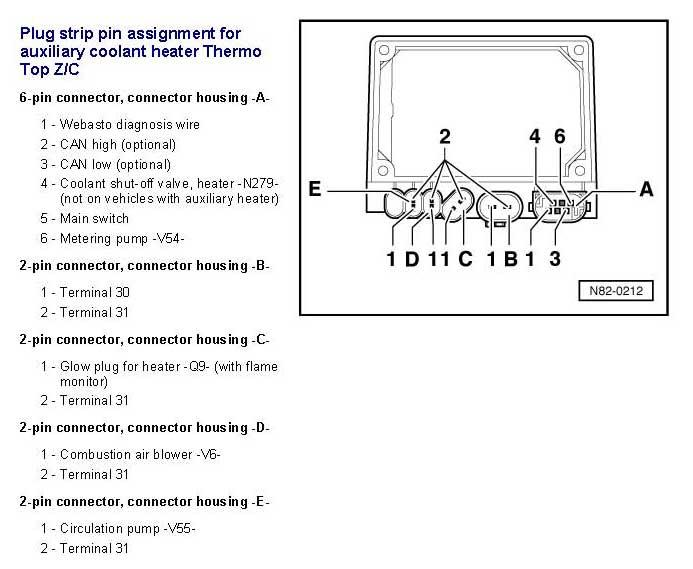 webasto thermo top c wiring diagram